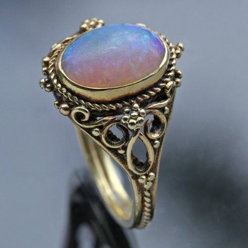 Arts and Crafts Opal Ring - Image via Lang Antiques