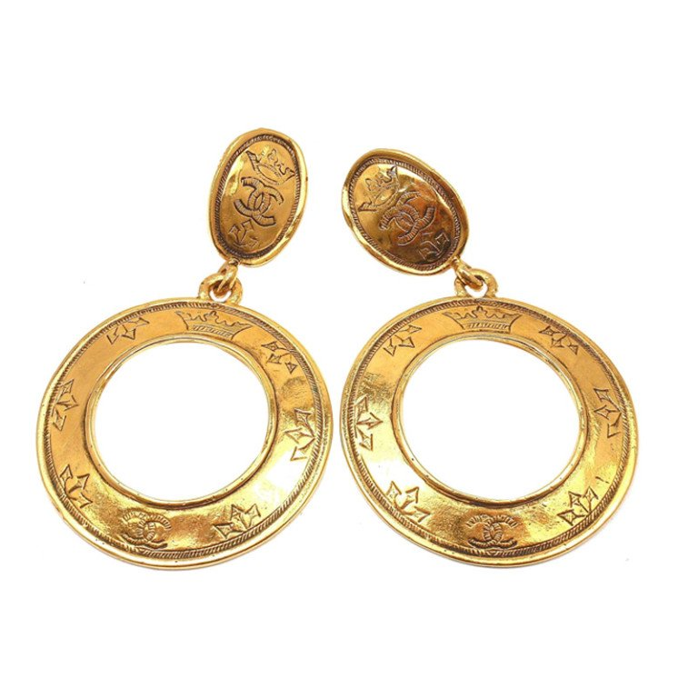 This Pair Of Chanel 18k Yellow Gold Comete Diamond Star Earrings Is A Luxury Worth Having Not All Jewelry Needs To Be Costume Course