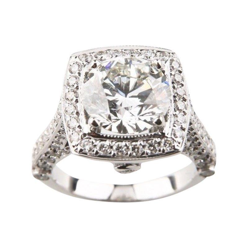 square halo ring