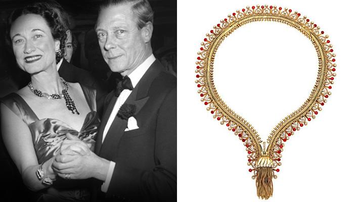 Wallis Simpson in Van Cleef & Arpels Zipper Necklace