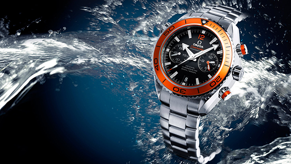 Omega Watch in Water