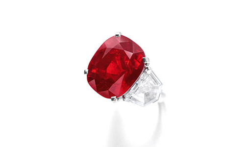 The Sunrise Ruby and Diamond Ring by Cartier