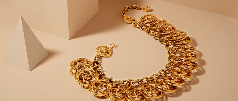 Chanel Logo Chain Necklace