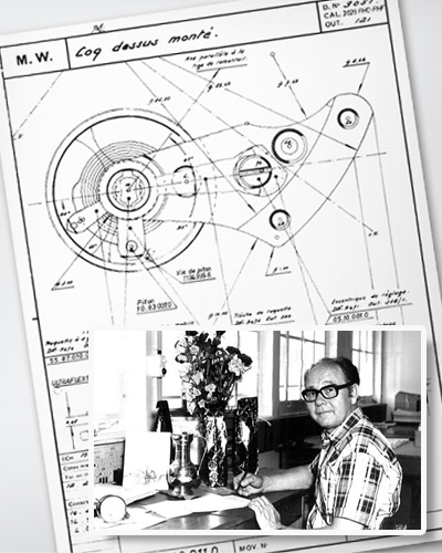 Zenith watchmaker Charles Vermot and the original plans for the Zenith El Primero