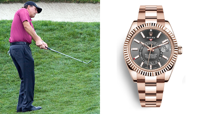 Phil Mickelson: Cellini, Oyster, and Sky-Dweller