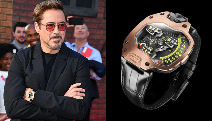 Robert Downey, Jr. in Super-Man Homecoming wearing an Urwerk Watch