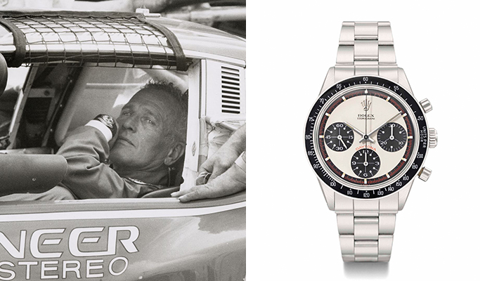 Paul Newman wearing a Rolex Daytona in Winning