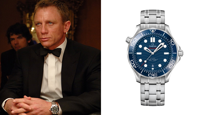 Daniel Craig in Casino Royale wearing an Omega Seamaster