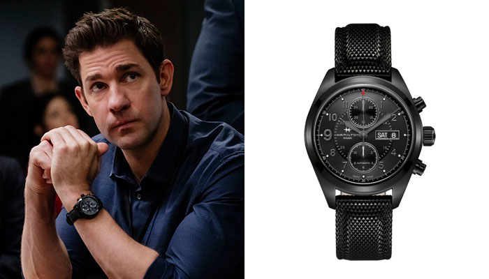 John Krasinski in Jack Ryan wearing a Hamilton Khaki watch