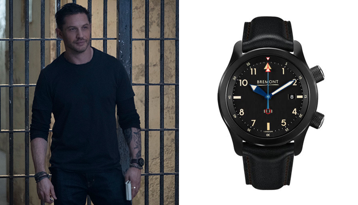Tom Hardy in Venom wearing a Bremont watch