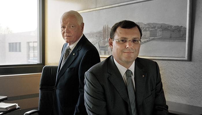 Philippe Stern (Honorary President of Patek Philippe) and Thierry Stern (President of Patek Philippe)