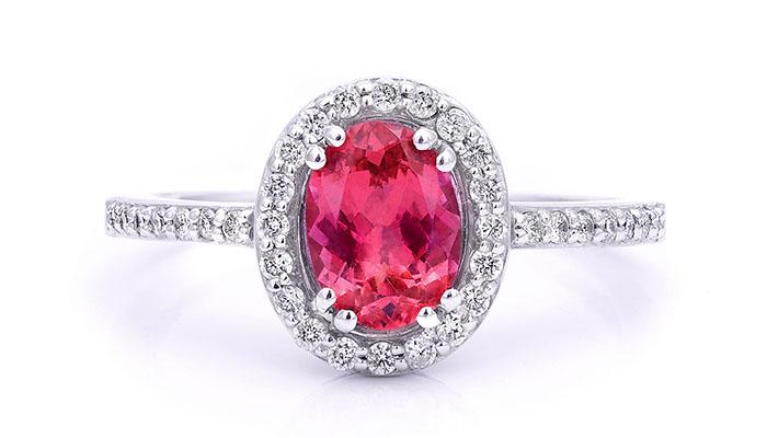 Colored gemstone ring