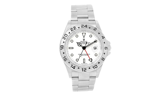 Rolex Explorer Watch with White DIal