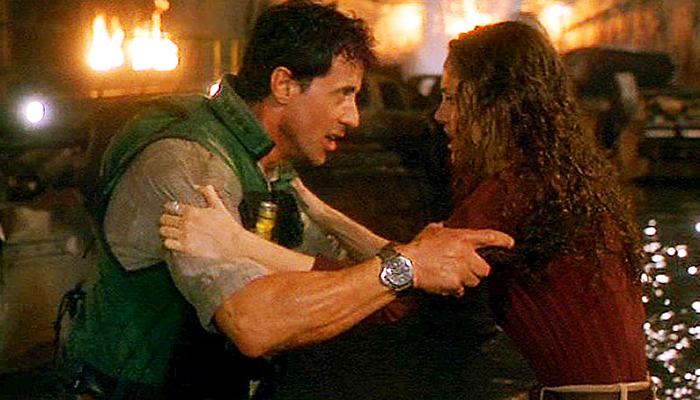 Actor Sylvester Stallone wears the Pre-Vendome Panerai in his 1996 film Daylight.