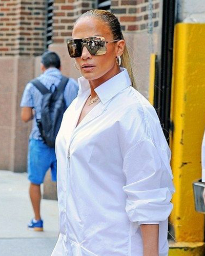 Jennifer Lopez was also spotted wearing Le Vian earrings and two rings while out and about in New York City in July 2018.