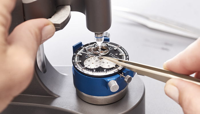 A Zenith watch being serviced by the manufacturer. Image courtesy of Zenith.