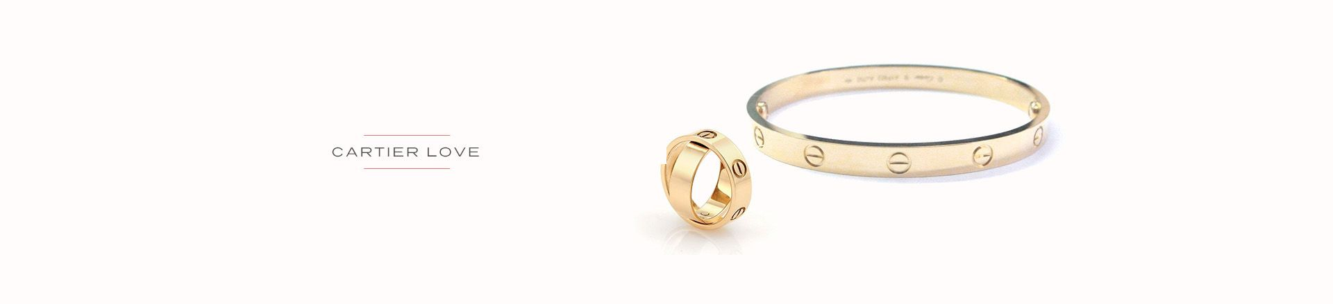 Cartier Love Bracelet and Rings
