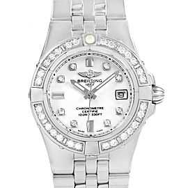 Breitling Starliner Diamond Dial Bezel Steel Ladies Watch A71340