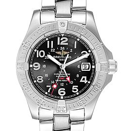 Breitling Colt GMT Black Dial Automatic Steel Mens Watch A32350