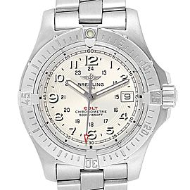 Breitling Colt Quartz Silver Dial Stainless Steel Mens Watch A74380