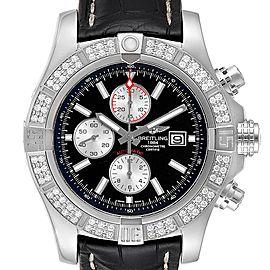 Breitling Aeromarine Super Avenger Steel Diamond Mens Watch A13371