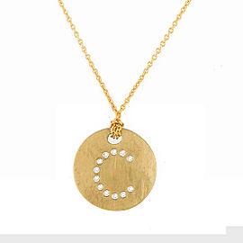 Roberto Coin 18K Yellow Gold 0.4ct Diamond Circle C Necklace
