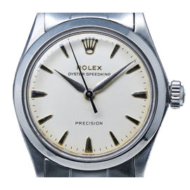 Rolex Oyster Speed King Speedking 6430 Stainless Steel Vintage 44mm Mens Watch
