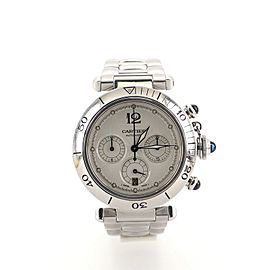 Cartier Pasha de Cartier Chronograph Automatic Watch Stainless Steel 38