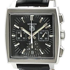 Polished TAG HEUER Monaco Chronograph Steel Automatic Watch CW2111
