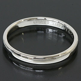 Tiffany & Co. 950 Platinum Simple Wedding Band Ring US 4.75