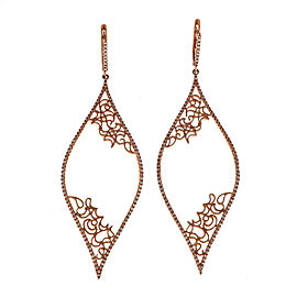 14K Rose Gold & 0.71ct Diamond Long Dangle Earrings