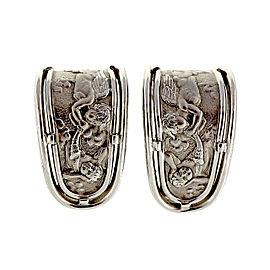 Carrera y Carrera Angel Motif 18K White Gold Clip Post Earrings