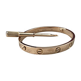 Cartier Love Bracelet 18K Rose Gold Size 17