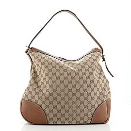 Gucci Bree Hobo GG Canvas with Leather Large