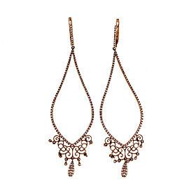 14K Rose Gold & 0.85ct Diamond Rare Edition Long Dangle Earrings