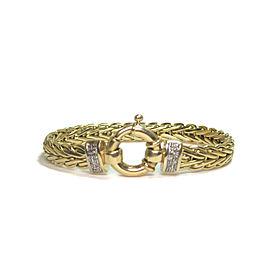 14K Yellow Gold Italian 0.14ct. Diamond Bracelet