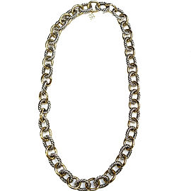 David Yurman 18K Yellow Gold & Sterling Silver Necklace