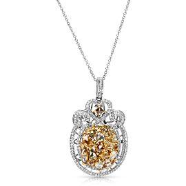 BRAND NEW Fancy Diamond Pendant in 14K Two Tone Gold (3.73 CTW)