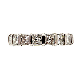 Platinum with 1.71ct Diamond Wedding Band Ring Size 6