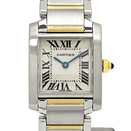 Cartier Tank Francaise W51007Q4 18K Yellow Gold and Stainless Steel Quartz 25mm Womens Watch
