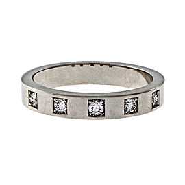 Peter Suchy 18K White Gold with 0.16ct Ideal Cut Diamond Band Wedding Band Ring Size 6.5