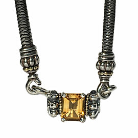 Lagos Caviar Glacier 18K Yellow Gold & Sterling Silver Citrine Pendant Necklace
