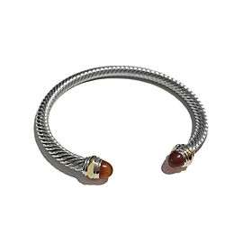 David Yurman Cable Classic Bracelet with Carnelian and 14K Gold, 5mm