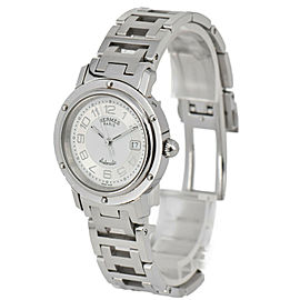 HERMES Clipper CL5.410 Date White/Silver Dial Automatic Women's Watch