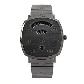 Gucci Grip Date Quartz Watch PVD Stainless Steel 38