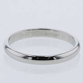 CARTIER 950Platinum 1895 Wedding EU50.5 Ring TBRK-324