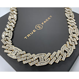 14K Yellow Gold Men's 33.17ct Diamond Necklace