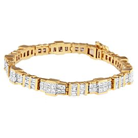 14K Yellow Gold 8.30ct Diamond Bracelet