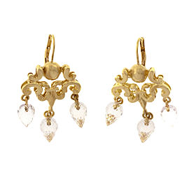 Robin Rotenier 18K Yellow Gold & Quartz Briolette Dangle Chandelier Earrings