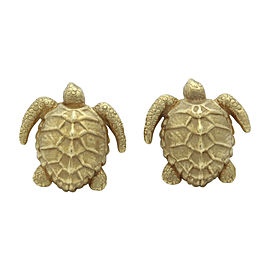 Kiselstein-Cord 18K Yellow Gold Turtle Cufflinks